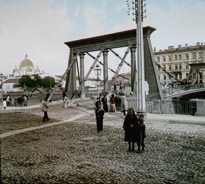 "Название: ""Petrohrad - Egyptský most"""