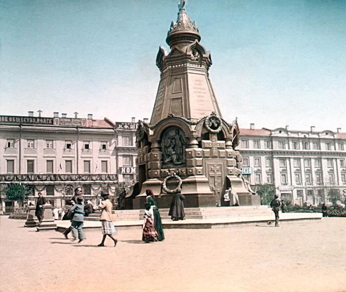 F. Krátký: Petrohrad, 1896 Москва. Памятник героям Плевны