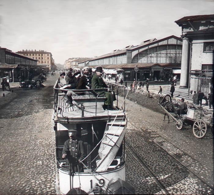 """Název snímku: """"Petrohrad - Senné náměstí"""""""