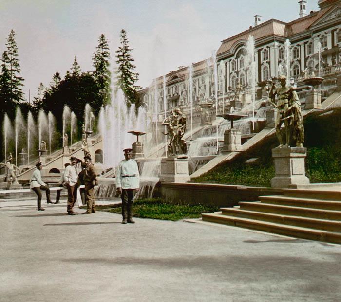 F. Krátk˘: Peterhof, Kaskády ze strany 1896 ã. 39