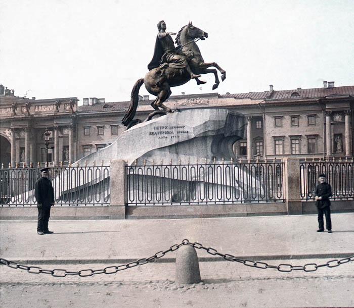 F. Krátký: Petrohrad, 1896 Pomník Petra Velikého