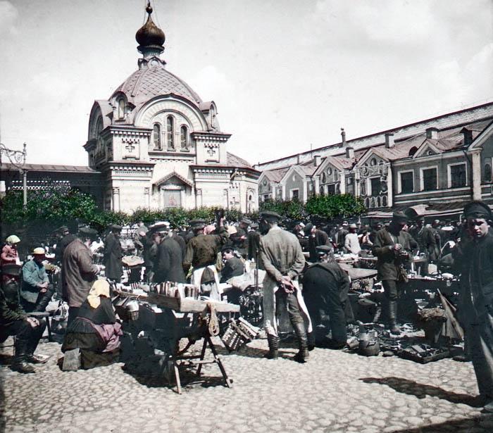 F. Krátký: Petrohrad, 1896 Na trhu (на рынке)