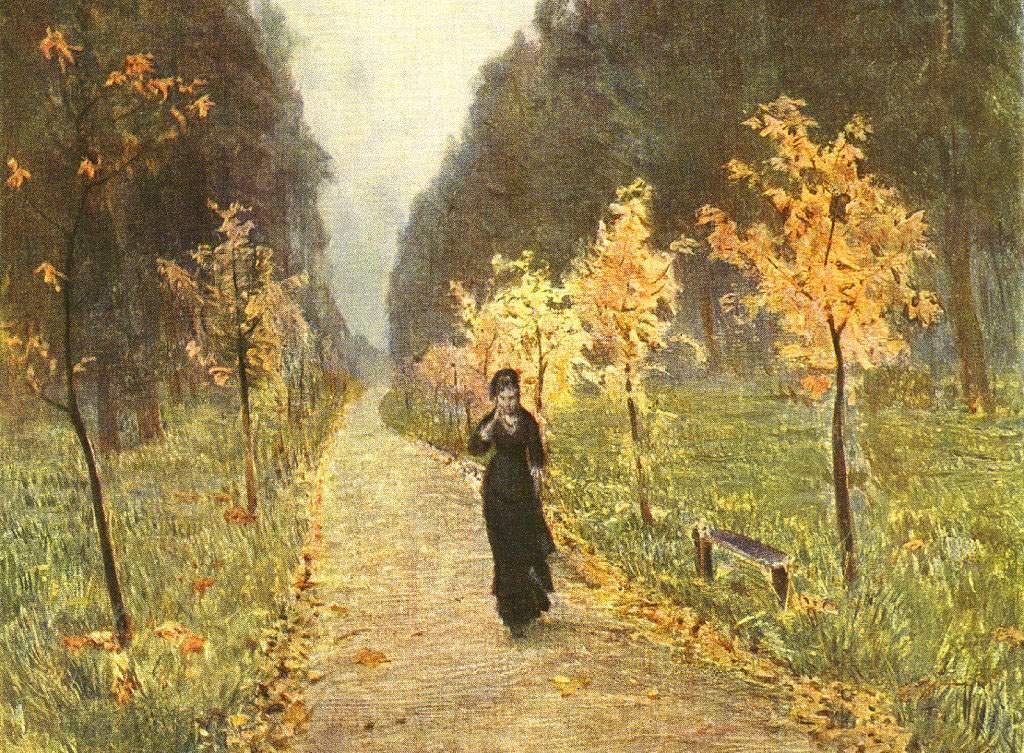 """""""Осенний день. Сокольники"""" - Исаак Левитан, Дата: 1879."""