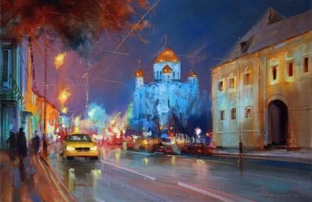 Московские улочки художника Алексея Шалаева.
