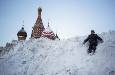 Самые необычные зимы в Москве.