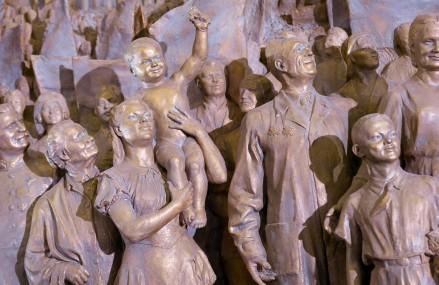 Открытие после реставрации горельефа скульптора Евгения Вучетича