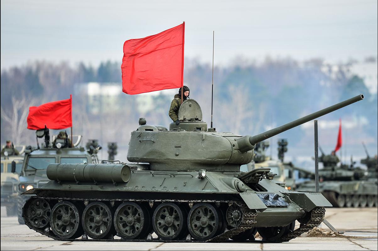 На снимке танк Т-34-85. Фото: Алексей Иванов/ТРК «Звезда»