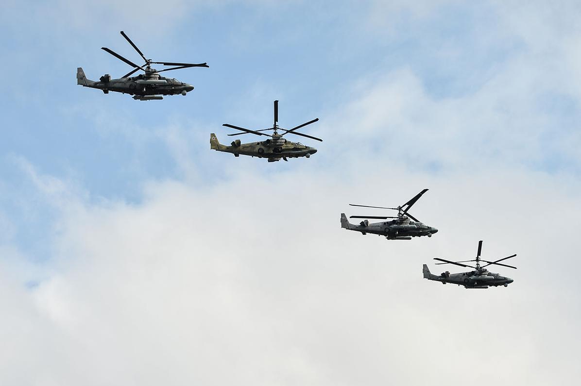 Четверка «Аллигаторов» Ка-52. Фото: Алексей Иванов/ТРК «Звезда»