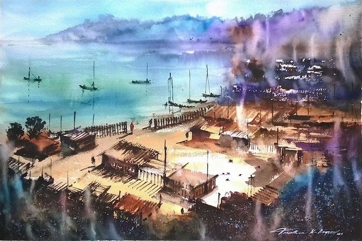 -jonathan_kwegyir_aggrey_-_ghana_fishing_village_ii_15_x_22_inches_watercolor_-compressor