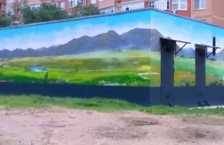 Граффити появилось на трансформаторной подстанции в Гольяново.