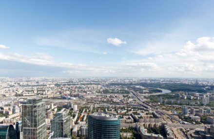 Ресторан на 86 этаже в Москва-сити.