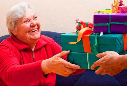 Подарок на новый год для пенсионеров
