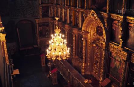 Съёмки внутри храма – Спасо-Преображенском соборе Новоспасского мужского монастыря
