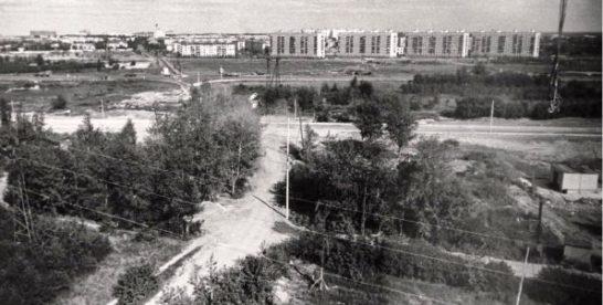 Вид на Реутов из района Новогиреево 1969г.