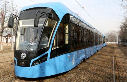В восточном округе вышли новые трамваи