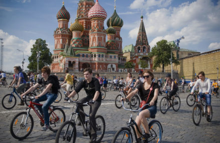 Велопарад с участием 30 тысяч человек запланирован в Москве 17 сентября
