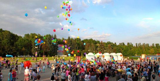 День города в Измайловском Парке по видео с коптера