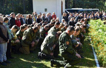 Поисковый отряд «Рубеж» провёл церемонию захоронения останков советских солдат