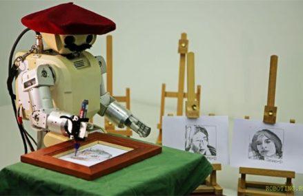 Робот-портретист начнет работать на Фонтанной площади парка «Сокольники» в январе