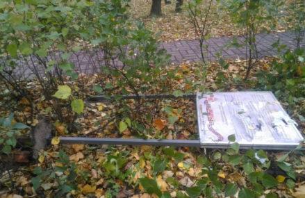 Мигранты в Москве разрушили аллею героев ВОВ
