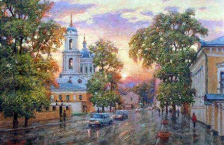 Яркая Москва в работах художника Игоря Разживина