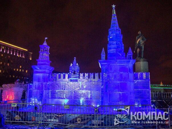 На Поклонной горе появятся ледяные Эйфелева башня и Биг-Бен