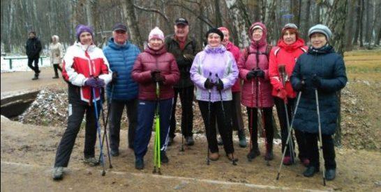 Поклонников скандинавской ходьбы в районе Новокосино стало больше