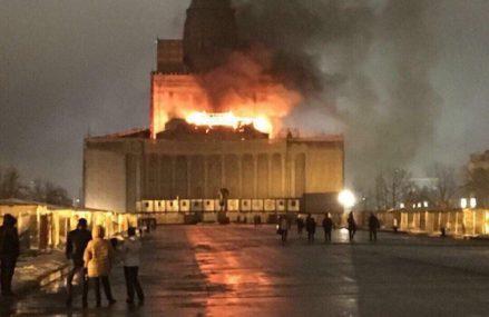 Недавний пожар в Центральном павильоне на ВДНХ