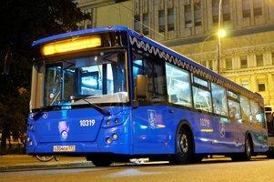 В Москве действуют 10 ночных маршрутов наземного городского пассажирского транспорта.