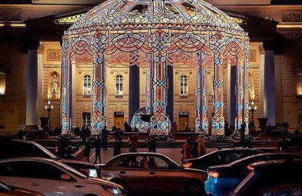 Кружево новогодних огней у Большого театра