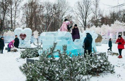 Арт-проект «Ледяной город» в парке «Сокольники»