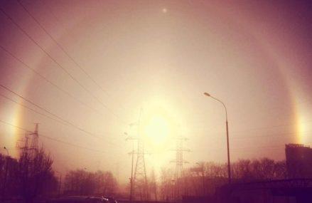 Жители Московского региона увидели на небе три солнца