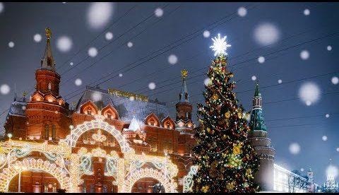 Прогулка по самым красивым местам новогодней Москвы 2018 в отличном качестве!