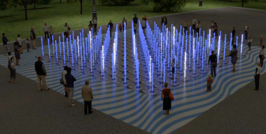 Сухой пешеходный фонтан появится на территории спортивного комплекса «Лужники»