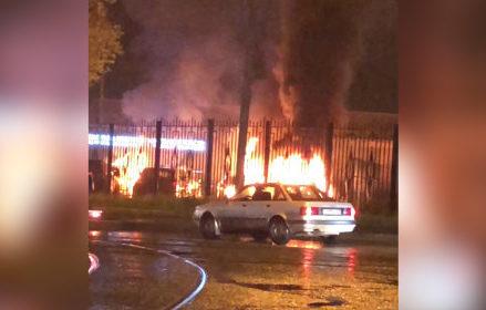 На востоке Москвы при пожаре в автоцентре выгорели пять иномарок