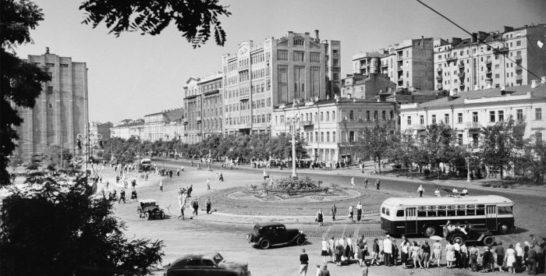 Так выглядела послевоенная Москва к 1950 году.