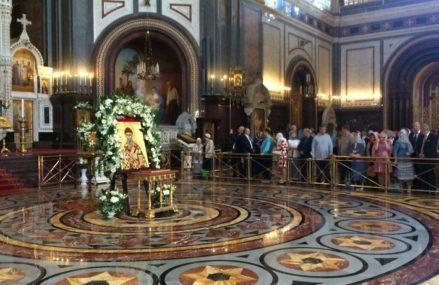 Мощи святителя Спиридона доставлены в столичный храм Христа Спасителя