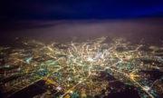 Пролетаем над ночной Москвой
