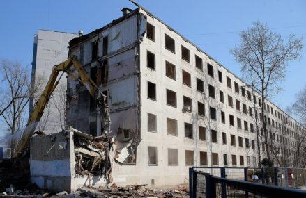 Восемь из десяти округов Москвы закончили снос пятиэтажек «первой волны»