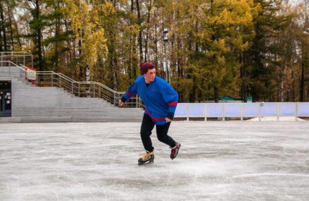 В Ивановском заработал каток с искусственным льдом