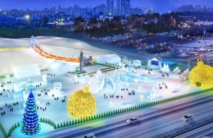 Ледяные копии мировых достопримечательностей установят на Поклонной горе