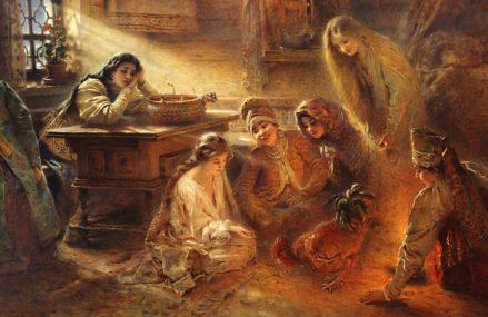 Городские суеверия: как москвичи гадали на Святки
