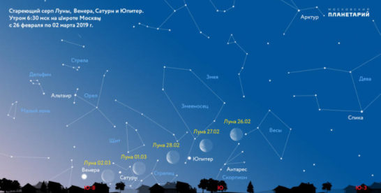 Звезд и зрелищ: россияне смогут увидеть сближение Луны с небесными телами