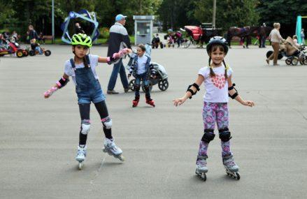 Занятия по катанию на роликах в Измайловском Парке