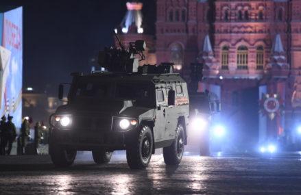 Вторая ночная репетиция парада Победы на Красной площади в Москве