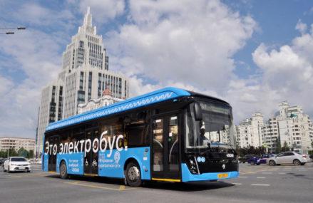 Электробусы столицы вышли на девятый по счету маршрут