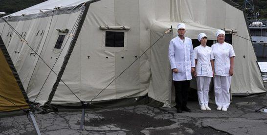 Памятник военным медикам открыли в Москве