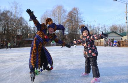 В парках и во дворах ВАО открылись катки с искусственным льдом