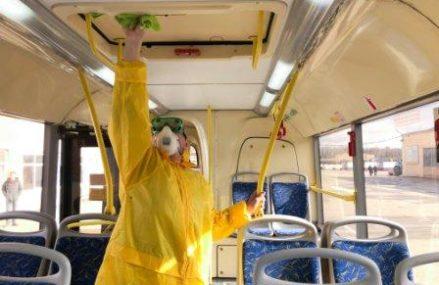 Общественный транспорт в ВАО дезинфицируют на конечных остановках и в депо