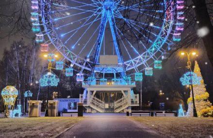 Измайловский Парк. Здесь можно сделать праздничные фотографии со светящимися новогодними инсталляциями.